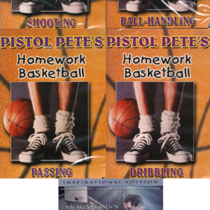 Pete Maravich Homework Basketball and The Pistol 5 DVD Package Set Inspirational Edition