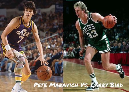 Pete Maravich VS Larry Bird