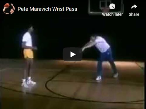 Pete Maravich Wrist Pass Demo