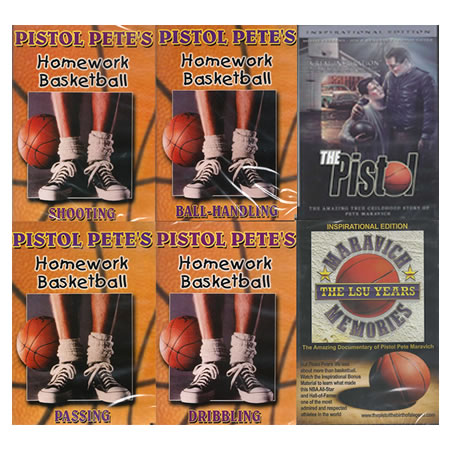 Pistol Pete Basketball 6 DVD Pkg
